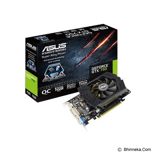 ASUS NVIDIA GeForce GTX 750 1GB [GTX750-PHOC-1GD5] - Vga Card Nvidia